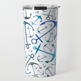 Nautical Watercolour Anchors Travel Mug