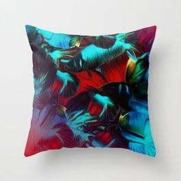 Splendens Red Throw Pillow