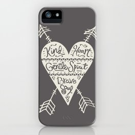 Kind Gentle Brave 2 iPhone Case