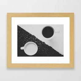 Black and White Coffee Framed Art Print