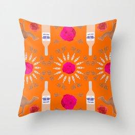 Desert Rosé I Throw Pillow