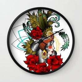 Geometric old school lady Wall Clock