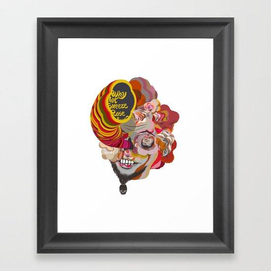 why not sneeze ... Framed Art Print