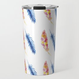 Birds Of A Feather - Watercolor Travel Mug