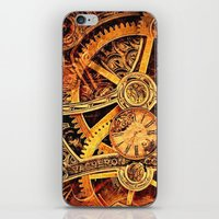 clockwork iPhone & iPod Skins featuring CLOCKWORK by Stephanie Lue