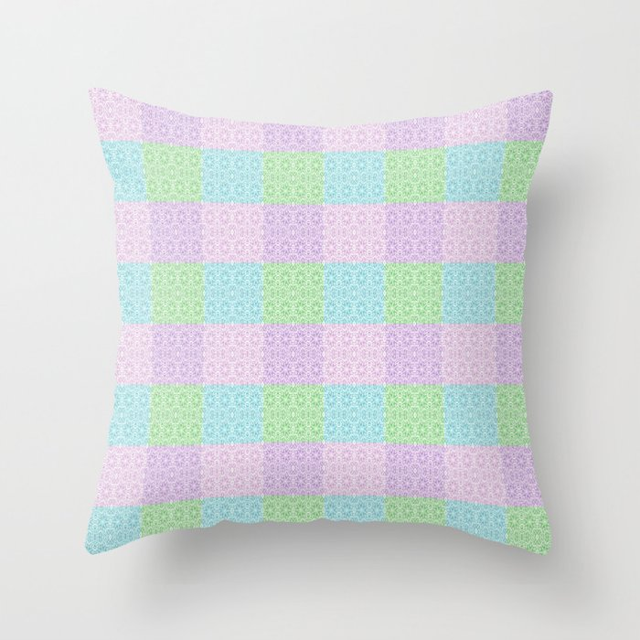 Blue And Lavender Throw Pillows : Pastel Pink Lavender Blue & Green Unusual Rose Swirl Series 9 Throw Pillow by vintageby2sweet ...
