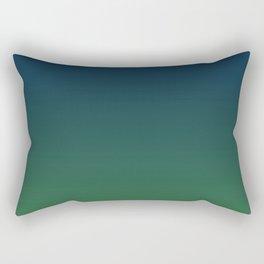 Blue-green Ombre Rectangular Pillow