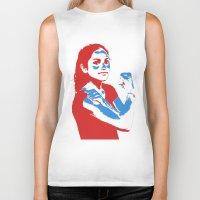 feminism Biker Tanks featuring Feminism by DebbieHughes