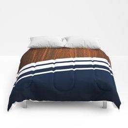 Wooden Navy Comforters