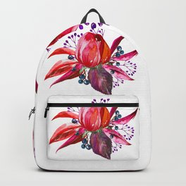 Bouquet, Rose, Bud, Berry, Leaf, Shabby, Cottage, Chick, Design, Original, Unique Backpack