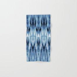 Blue Satin Shibori Argyle Hand & Bath Towel
