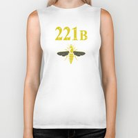 221b Biker Tanks featuring 221B(ee) by sirwatson