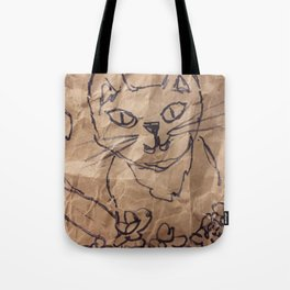 Cat on the bag Tote Bag