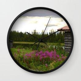 Pioneer Cabin II - Alaska Wall Clock