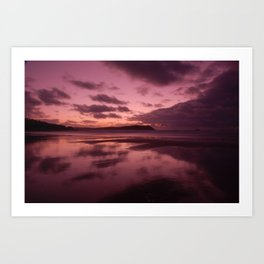 Winter Sunset Art Print