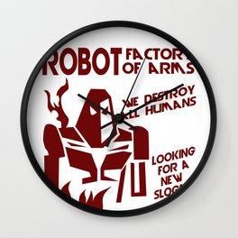 Robot Factory Humans Entertainment Technology Gift Wall Clock