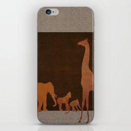 Brown Safari Jungle Zoo Animals iPhone Skin