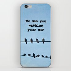 When Pigeons Plan... iPhone & iPod Skin