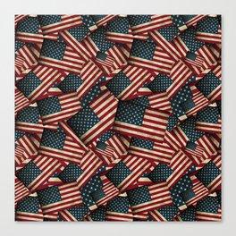 Patriotic Grunge Style American Flag Canvas Print