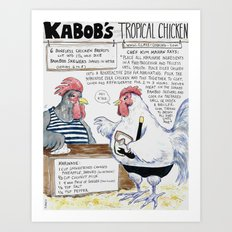 Kabobs Tropical Chicken Art Print
