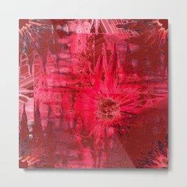 Red Explosions Metal Print