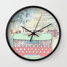 Typewriter #2 Wall Clock