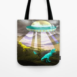Aliens do exist - dino exctinction event Tote Bag
