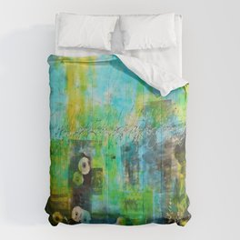 Abstract Blue in the Breeze Comforters