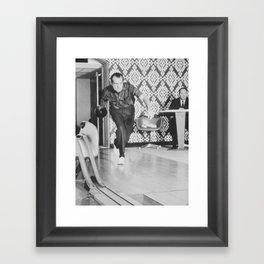 President Richard Nixon Bowling At The White House Framed Art Print