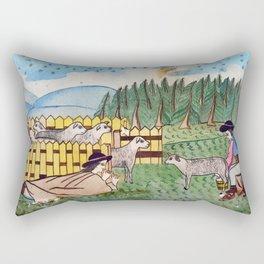 BETHLEHEM PROSPECTUS 2 (Painted Shed) Rectangular Pillow