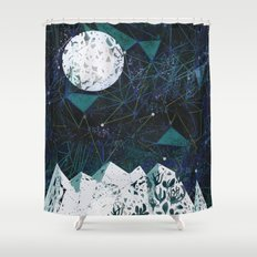 winter geometry Shower Curtain