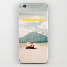 NEVER STOP EXPLORING V - vintage volkswagen bug iPhone & iPod Skin