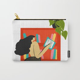 Girl Reading Carry-All Pouch