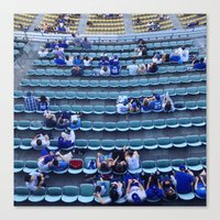dodgers Canvas Prints featuring Find Your Seat by Gabe Dahl