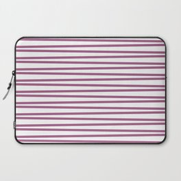 Mauve and white thin horizontal stripes Laptop Sleeve