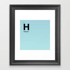 Hydrogen Framed Art Print