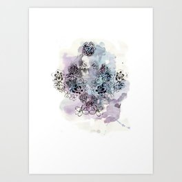 Fat Plants Art Print