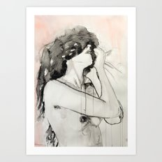 She was not an impulsive woman Art Print