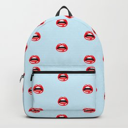 SEXY LIPS ((baby blue)) Backpack