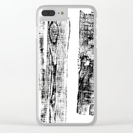 Fragment logs Clear iPhone Case