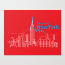 See you in New York Canvas Print