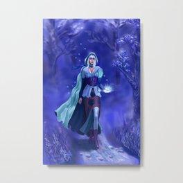 Blue forest nymf Metal Print