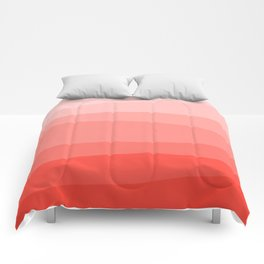 Diagonal Living Coral Gradient Comforters