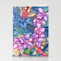orchid Stationery Cards featuring Orchid Splash by Vikki Salmela
