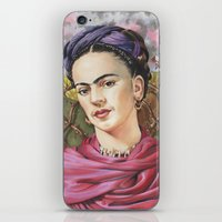 frida iPhone & iPod Skins featuring Frida by Mark Satchwill Art