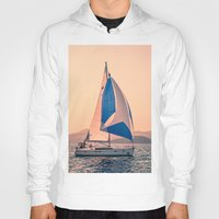 racing Hoodies featuring  Yacht racing by Svetlana Korneliuk