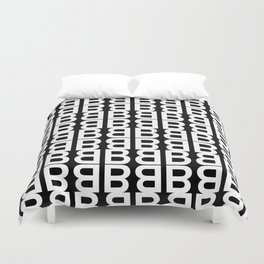 Letter B Commissioned Repeat Pattern Duvet Cover
