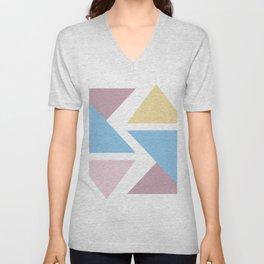 Geometric triangle pastel origami Unisex V-Neck