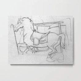 Carousel Still Metal Print