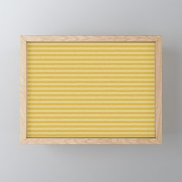 Stripes yellow and beige #homedecor Framed Mini Art Print
